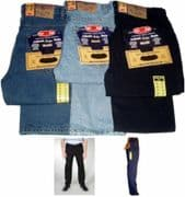 """Tall Mens Aztec Jeans Heavy Duty Work Casual Regular Fit  Jeans Long Length L36"""""""